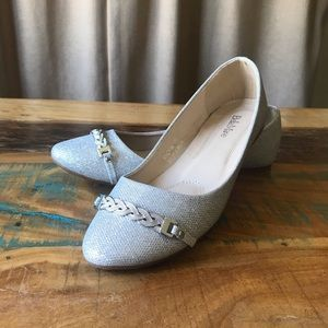 Bella Marie Stacy Silver Shoes
